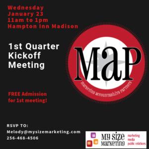 MAP 1st Qtr Kickoff @ Hampton Inn Madison